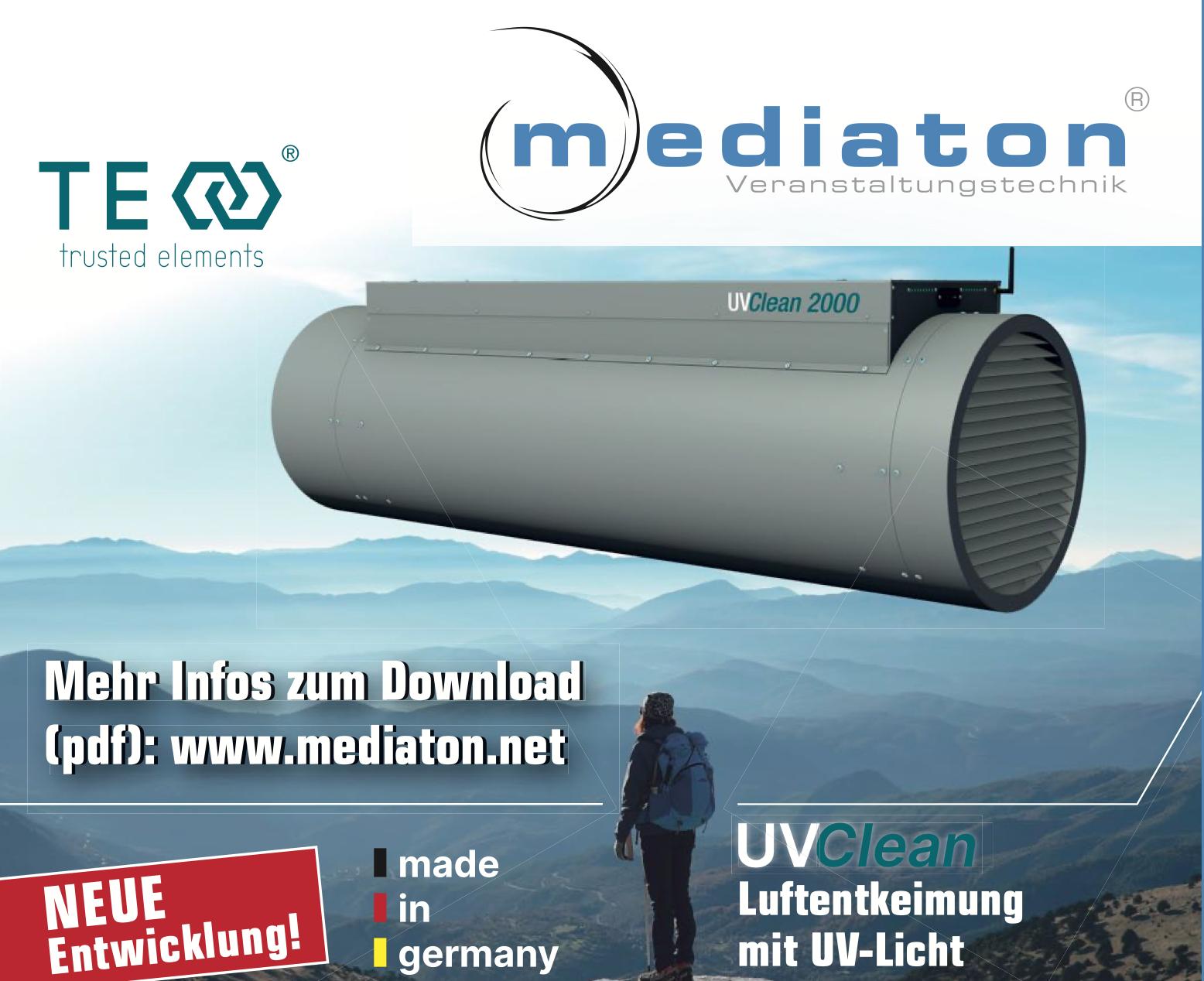 Mediaton - TE-UVC-Entkeimung - Luftentlkeimung mit UV-Licht