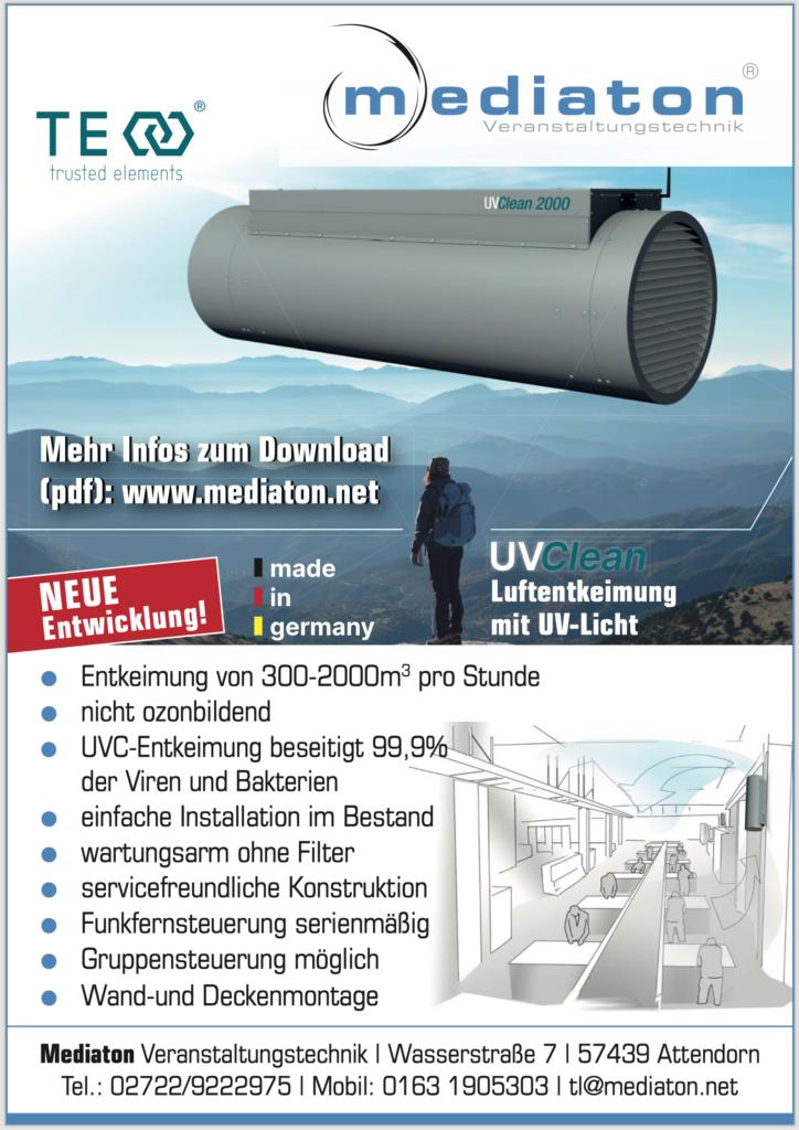 Mediaton - UVC - Luftentkeimung